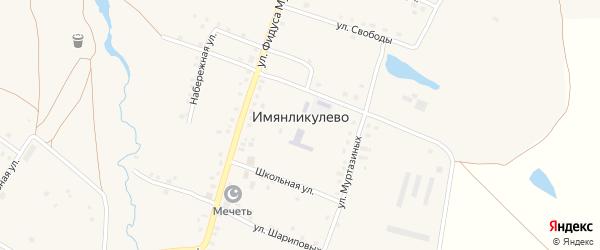 Школьная улица на карте села Имянликулево с номерами домов