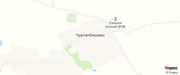 Улица Хасанова на карте деревни Чуртанбашево с номерами домов
