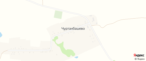 Улица Г.Хантимерова на карте деревни Чуртанбашево с номерами домов