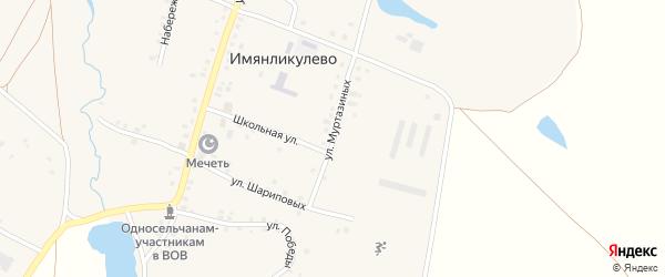Улица Муртазиных на карте села Имянликулево с номерами домов