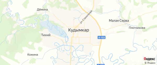 Карта Кудымкара с районами, улицами и номерами домов