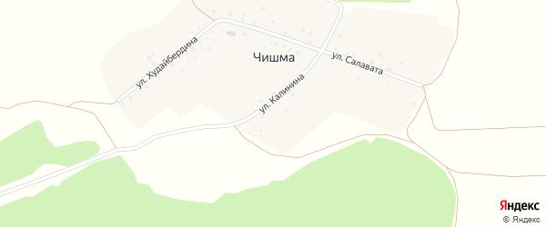 Улица Худайбердина на карте деревни Чишмы с номерами домов