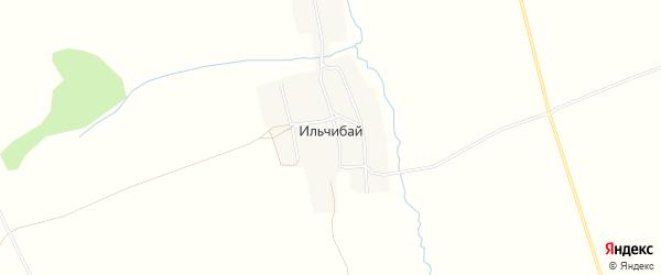 Карта деревни Ильчибая в Башкортостане с улицами и номерами домов