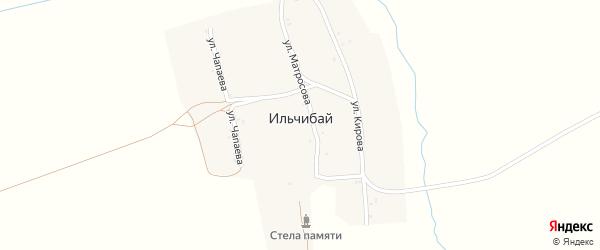 Улица Чапаева на карте деревни Ильчибая с номерами домов