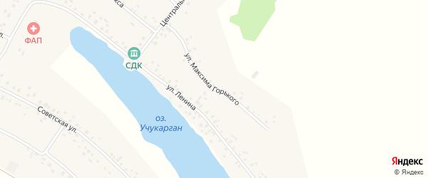 Улица М.Горького на карте села Юсупово с номерами домов