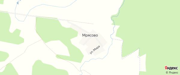 Карта деревни Мрясово в Башкортостане с улицами и номерами домов