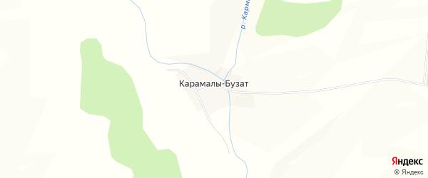 Карта деревни Карамалы-Бузат в Башкортостане с улицами и номерами домов