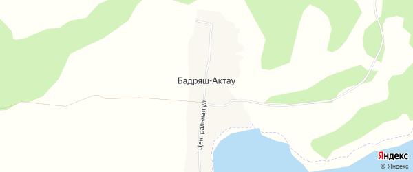 Карта деревни Бадряша-Актау в Башкортостане с улицами и номерами домов