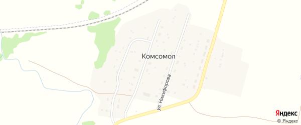 Набережная улица на карте села Комсомола с номерами домов