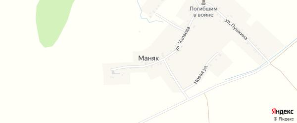 Комсомольская улица на карте деревни Маняка с номерами домов