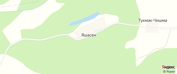 Пионерская улица на карте деревни Яшасена с номерами домов