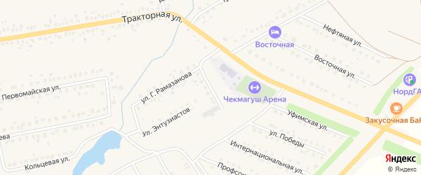Улица Г.Рамазанова на карте села Чекмагуш с номерами домов