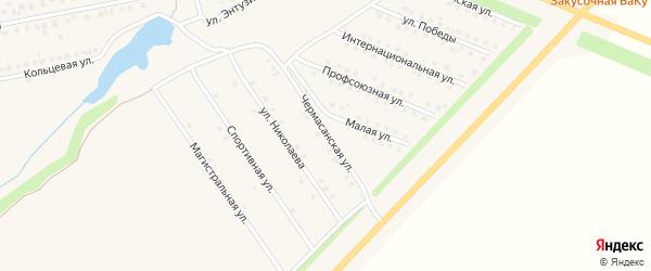 Чермасанская улица на карте села Чекмагуш с номерами домов