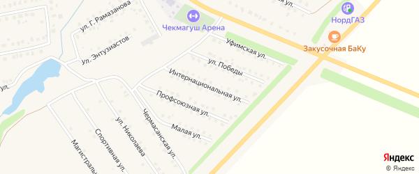 Интернациональная улица на карте села Чекмагуш с номерами домов