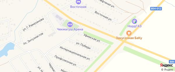 Уфимская улица на карте села Чекмагуш с номерами домов