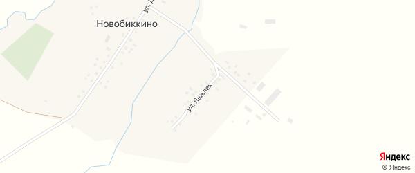 Улица Яшьлек на карте села Новобиккино с номерами домов
