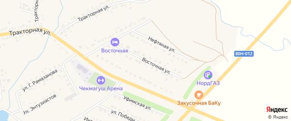 Восточная улица на карте села Чекмагуш с номерами домов