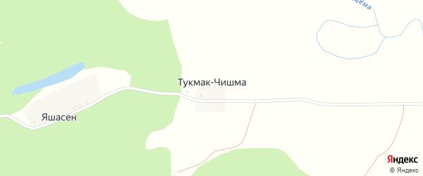 Пионерская улица на карте деревни Тукмака-Чишма с номерами домов