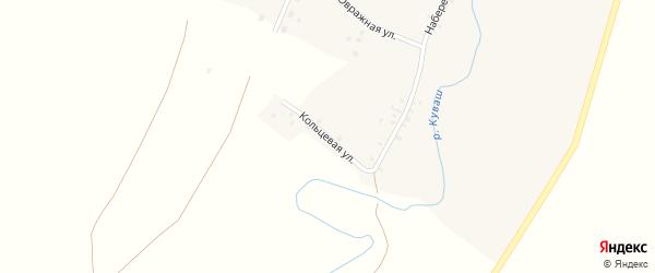 Кольцевая улица на карте села Верхнего Аташа с номерами домов