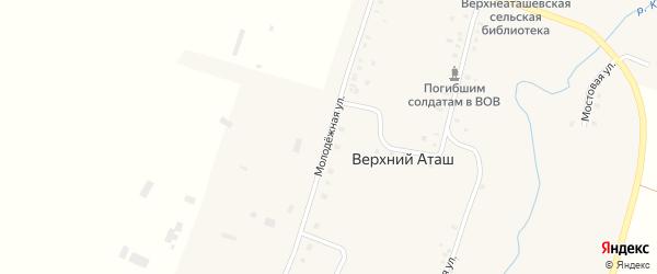 Молодежная улица на карте села Верхнего Аташа с номерами домов