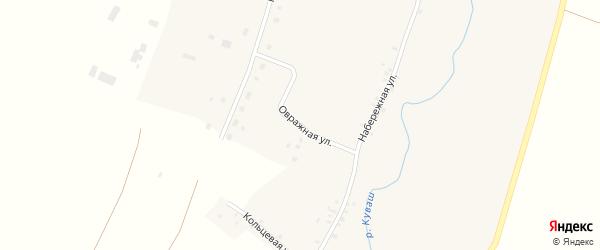 Овражная улица на карте села Верхнего Аташа с номерами домов