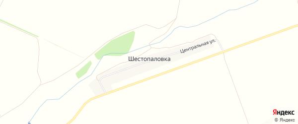 Карта деревни Шестопаловки в Башкортостане с улицами и номерами домов