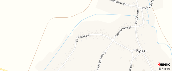 Улица Чапаева на карте села Бузата с номерами домов