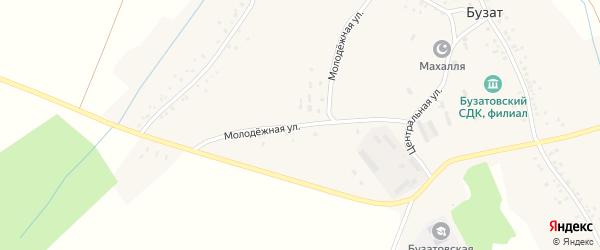 Молодежная улица на карте села Бузата с номерами домов