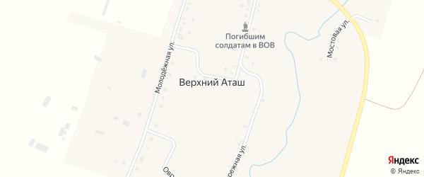 Улица Бахтизина на карте села Верхнего Аташа с номерами домов