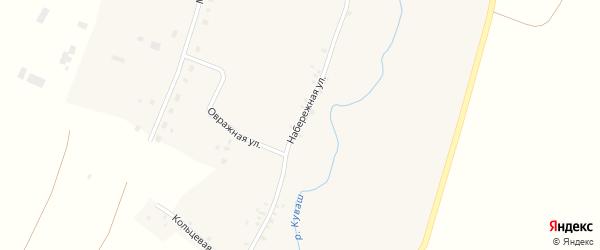 Набережная улица на карте села Верхнего Аташа с номерами домов