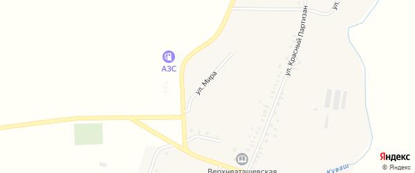 Улица Мира на карте села Верхнего Аташа с номерами домов