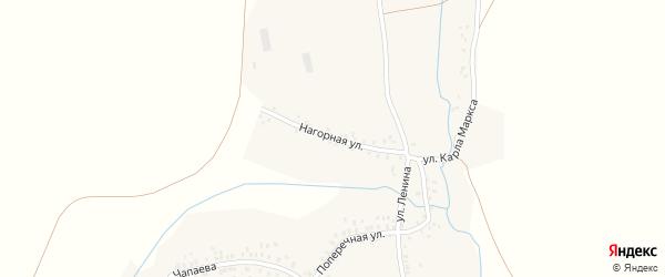 Нагорная улица на карте села Бузата с номерами домов