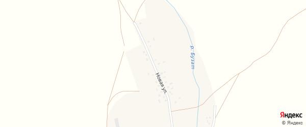 Новая улица на карте села Бузата с номерами домов