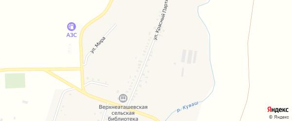Улица Красный Партизан на карте села Верхнего Аташа с номерами домов