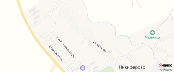 Улица Дружбы на карте села Никифарово с номерами домов