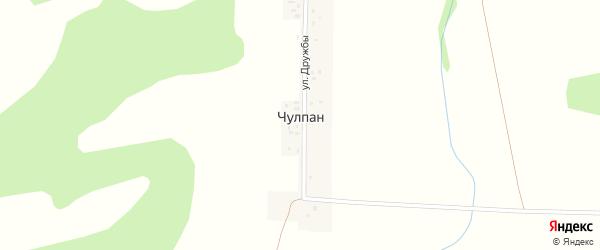 Улица Дружбы на карте деревни Чулпана с номерами домов