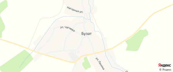 Карта села Бузата в Башкортостане с улицами и номерами домов