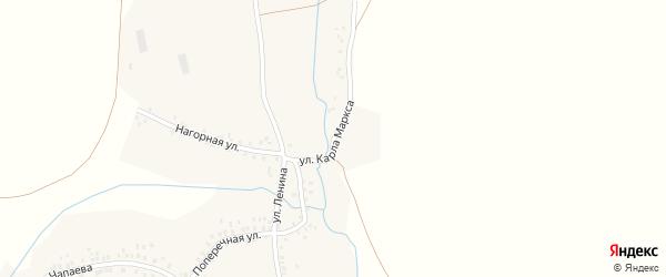 Улица Карла Маркса на карте села Бузата с номерами домов