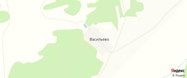 Карта деревни Васильево в Башкортостане с улицами и номерами домов