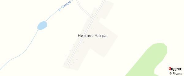 Школьная улица на карте деревни Нижней Чатры с номерами домов
