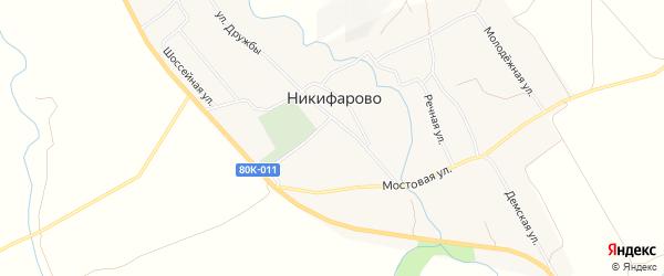 Карта села Никифарово в Башкортостане с улицами и номерами домов
