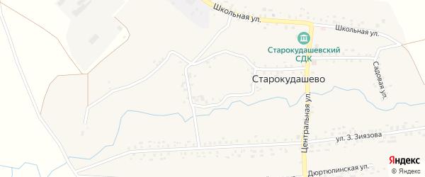Центральная улица на карте села Старокудашево с номерами домов