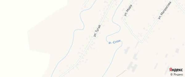 Улица Тугай на карте села Слака с номерами домов