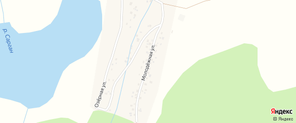 Молодежная улица на карте села Ташлы с номерами домов