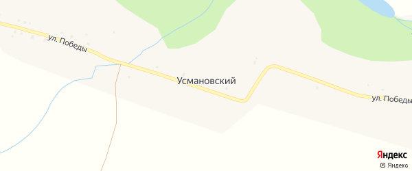 Улица Победы на карте деревни Усмановского с номерами домов