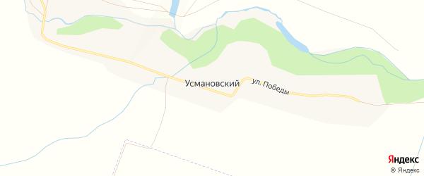 Карта деревни Усмановского в Башкортостане с улицами и номерами домов