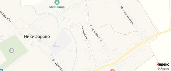 Речная улица на карте села Никифарово с номерами домов