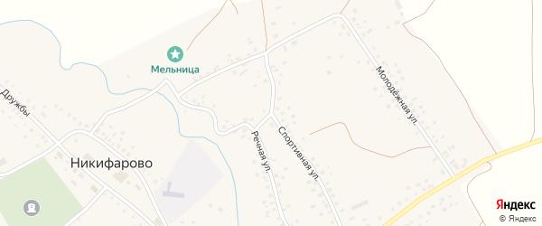 Спортивная улица на карте села Никифарово с номерами домов