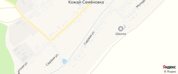 Садовая улица на карте села Кожая-Семеновки с номерами домов