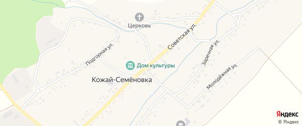Советская улица на карте села Кожая-Семеновки с номерами домов